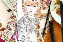 365 days of Fashion- LANA de Beerg Illustration / Illustration,Fashion,Art,Paintner,Design,Grafikdesign,