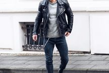 Street Boy with Leather Jacket