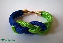 Green-blue paracord jewelry - kék-zöld paracord ékszerek