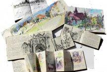 artists art works and sketch books / by Fatima Zahra (ZAHRA) Hassan