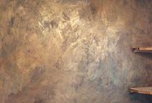 En målad vägg!