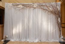 Backdrops, draping, setups and centerpieces