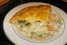 Chicken Pot Pie - top crust Country Biscuits