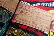 Head Wraps by Leopard Tree Studio / 100% Cotton Fabric | 200cm x 34cm http://www.leopardtreestudio.com/products/head-wraps/