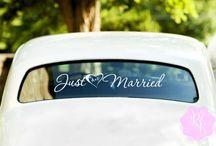 Wedding Car Decals / Wedding decorations. Car decorations