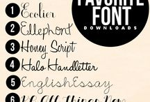 Fonts / Fonts / by Jal W