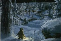 Julkort/ Yule tide / The magical atmosphere of childhood winters