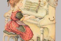 lisi zongorázik