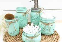 Mason jar bathroom