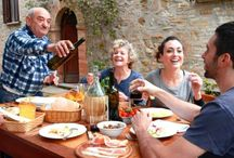 Family Eating / Visit Italy aboard your own private yacht... the second healthiest country in the world!