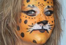 Maquillages artistiques félins, pumas, tigres, jaguars maquillages enfants face painting make up