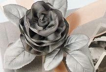 Flores..papel...tela