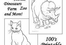 Eläinten värityskuvia