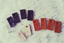 Handmade leather labels / Handgemaakte leren labels - Handmade leather labels - leukelabels.etsy.com