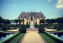 white and pink romantic wedding / Romantic Wedding at Oheka Castle