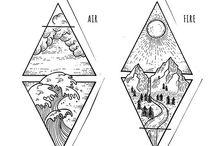 Drawings and sketches / Рисунки, скетчи, эскизы татуировок