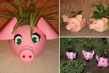 Gardening pots with a diff.
