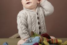 Fisherman knit baby sweaters