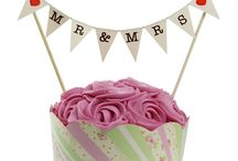 Cake Bunting Toppers / Hand made in Britain. Colorful cake decoration. Great for any shape cake. Many occasions to choose from.