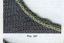 вязание горловины