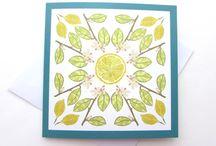 Lindsay & Yoshi Birds & Fruit / A mixture of designs by Lindsay & Yoshi celebrating British birds and the lemon tree at L&Y HQ.