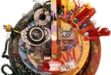 Nancy Gibson Nash Collage / The work of one of my favorite artists in the world / by Scott Nash
