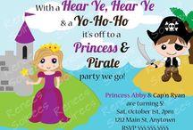 Pirate / Mermaid / Princess Party / Prince & Princess, Knight, Pirate, Mermaid