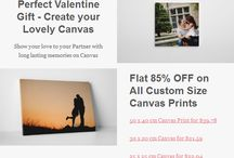 Valentines Special - Love on Canvas / Catch your love on canvas - A perfect gift for your loved one!