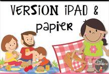 Ateliers vacances / Ateliers sur le thème des vacances. Activité à imprimer pour les élèves du préscolaire ou du 1er cycle pendant le mois de juin.