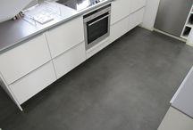 Küchen/betonboden