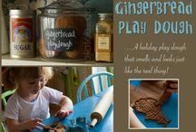 Playdough / Playdough recipes to make for the kids. Our favorite scents so far are pumpkin playdough and chocolate playdough.