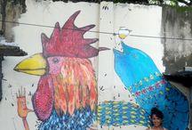 Pinturas Urbanas / Trabalhos realizados pelas cidades onde passo.