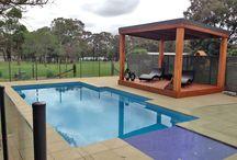 Aarons PERGOLAS / The perfect, modern outdoor entertaining area   Skillion Colorbond roof design