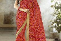 Designer Bandhani Saree Collection
