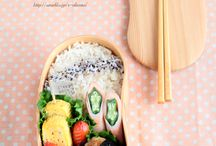 BENTO - I want to learn how to make these! / But less or no rice and more veggies or some fish! ^^