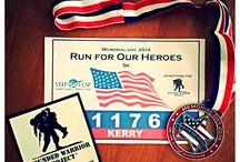 My marathon medals / Getting in shape rewards!