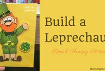 Speech Therapy Activities - March / These ideas are sure to make you lucky!