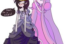 The queen and The Princess
