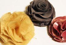 Fabric Flowers / by Cynthia Carlson