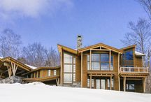 Maine Ski Getaway / This Bensonwood timber frame home is located in Maine and is  the perfect vacation home for anyone who loves the slopes.