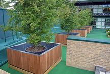 Wimbledon Project / A selection of our popular Tree planters as part of the ongoing development work at Wimbledon. The Tree planters were to be installed near the world-famous No. 1 Court and other locations on the site.