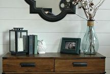 Home styling shelves, walls and surfaces