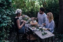 a gathering outdoors / inspiration for dinner parties / dining al fresco / picnics / gather with loved ones