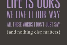 Song quotes I love