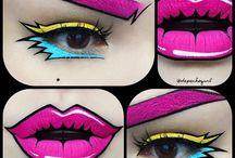pop art comic make up