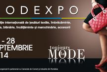 MODEXPO - ROMEXPO / MODEXPO - Expozitie internationala de tesaturi textile, imbracaminte, pielarie, blanarie, incaltaminte si marochinarie, accesorii! / by Romexpo Bucuresti