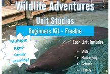 # Best of Adventure Homeschool / blog posts from AdventureHomeschool - frugal family living, home & homeschool, freebies & recipes, Wildlife Adventures Unit Studies