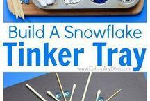 snow tinker tray