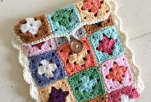 granny square cover, sleeve, pouch, phone, cosy, colorful, crochet