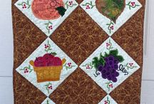 Embroidery on quilted items